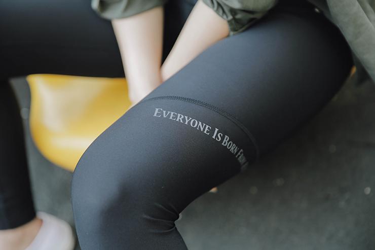 黑色運動內搭褲