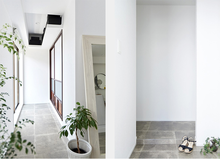 白色調庭院裝潢,視覺開闊感