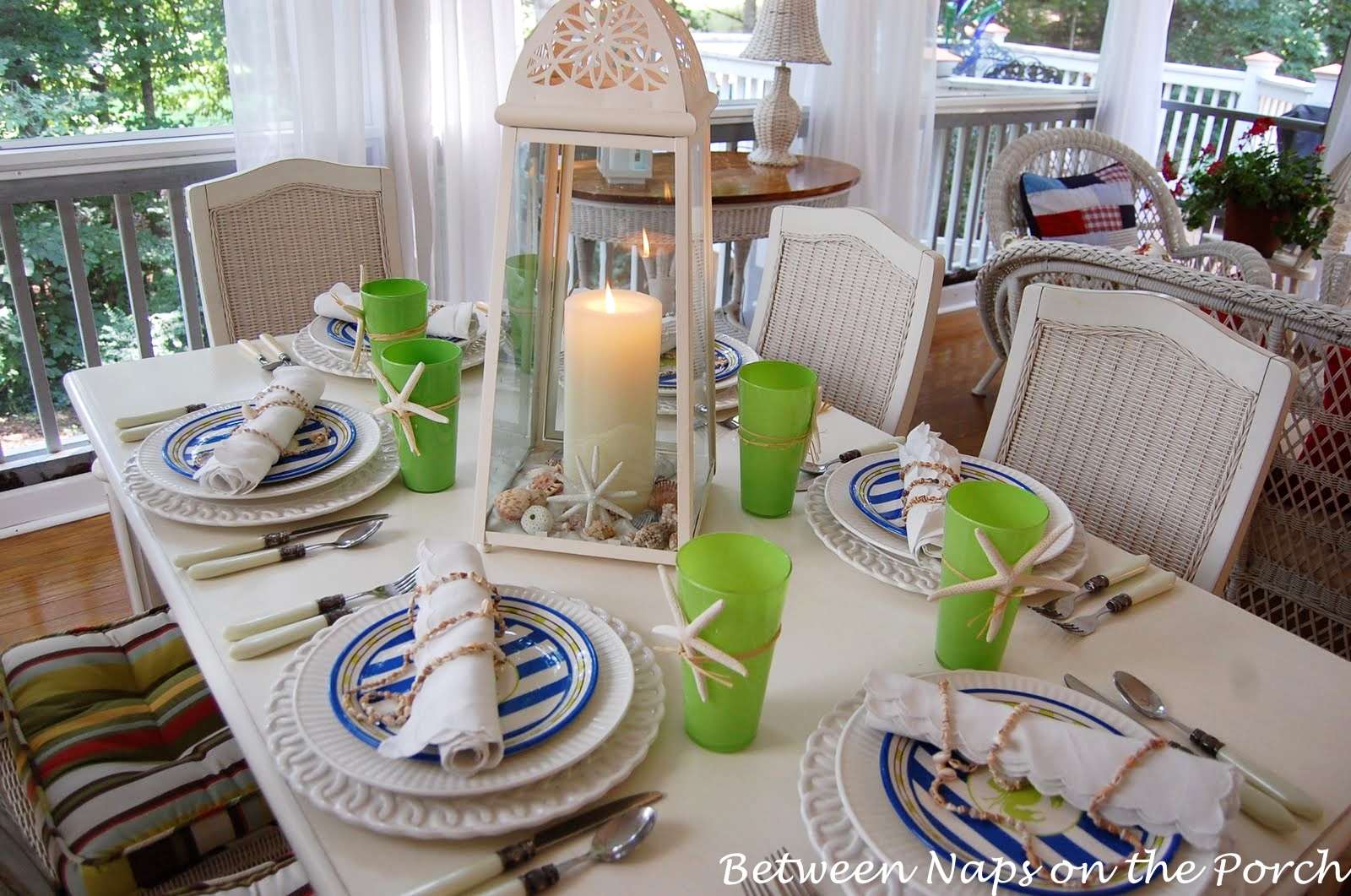 coastal summer table setting welcome to the st tablescape thursday beachy kitchen table Beachy Table Setting