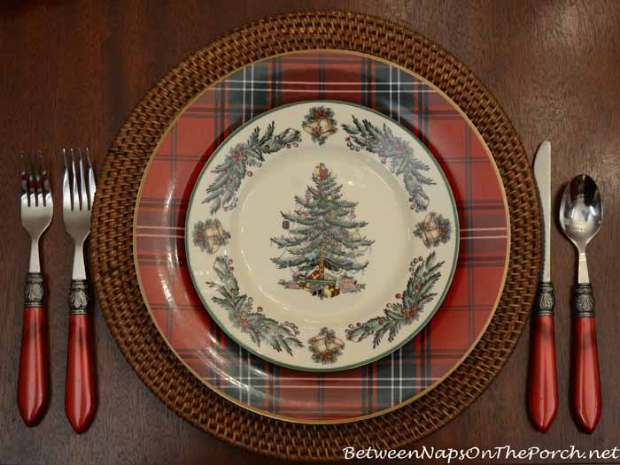 Christmas Tree Paper Plates & Spode Christmas Tree Dinner Plate - Castrophotos