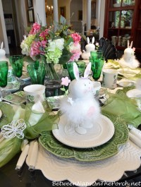 Spring Easter Table Setting & An Easter Decorated Tree