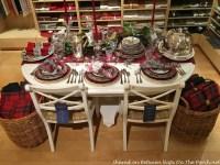 Tartan Christmas Table Setting, Vintage Style