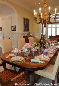 Marie's Beautiful Spring Easter Table Setting