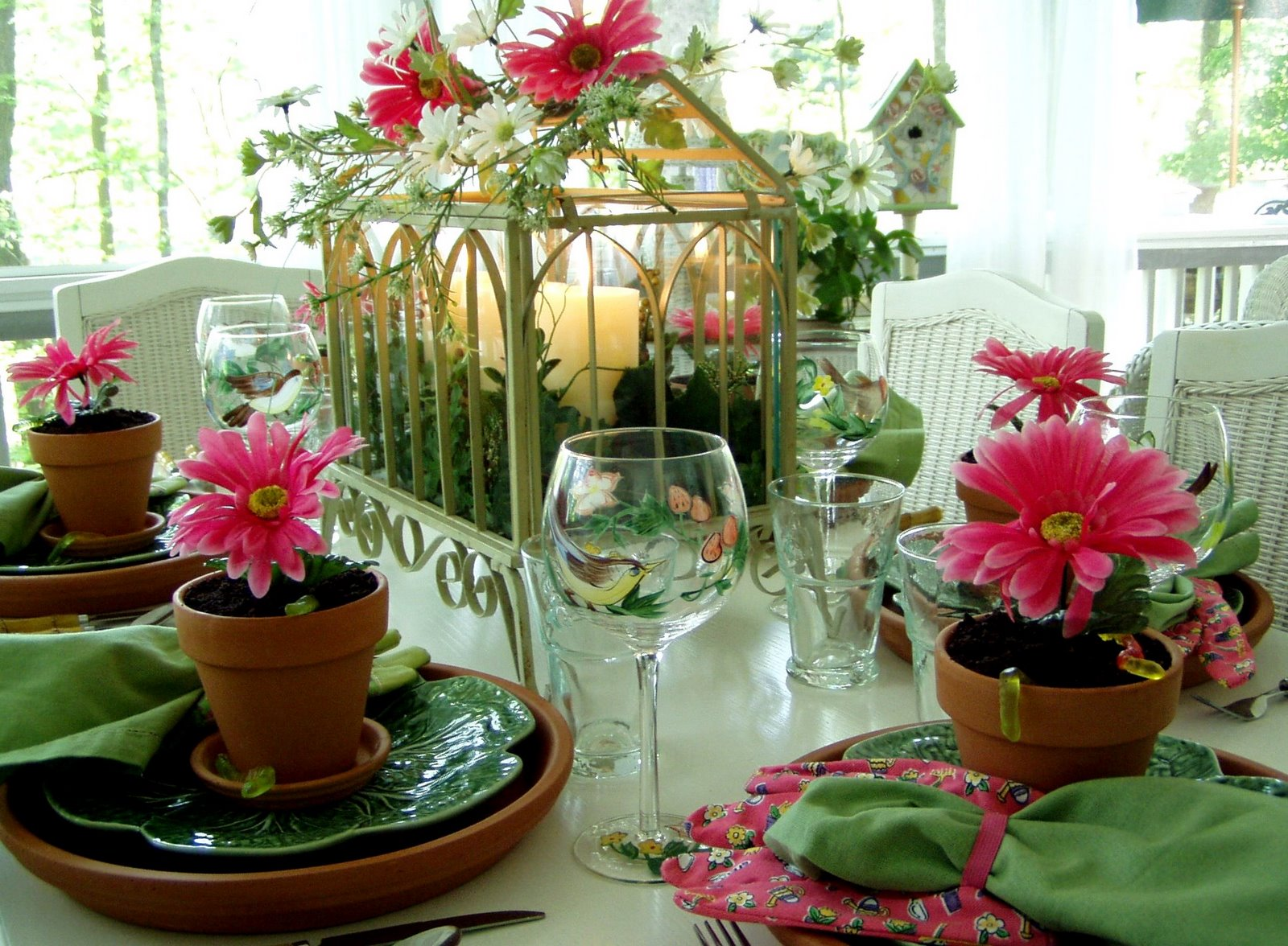 A Garden Party Table Setting Between Naps On The Porch