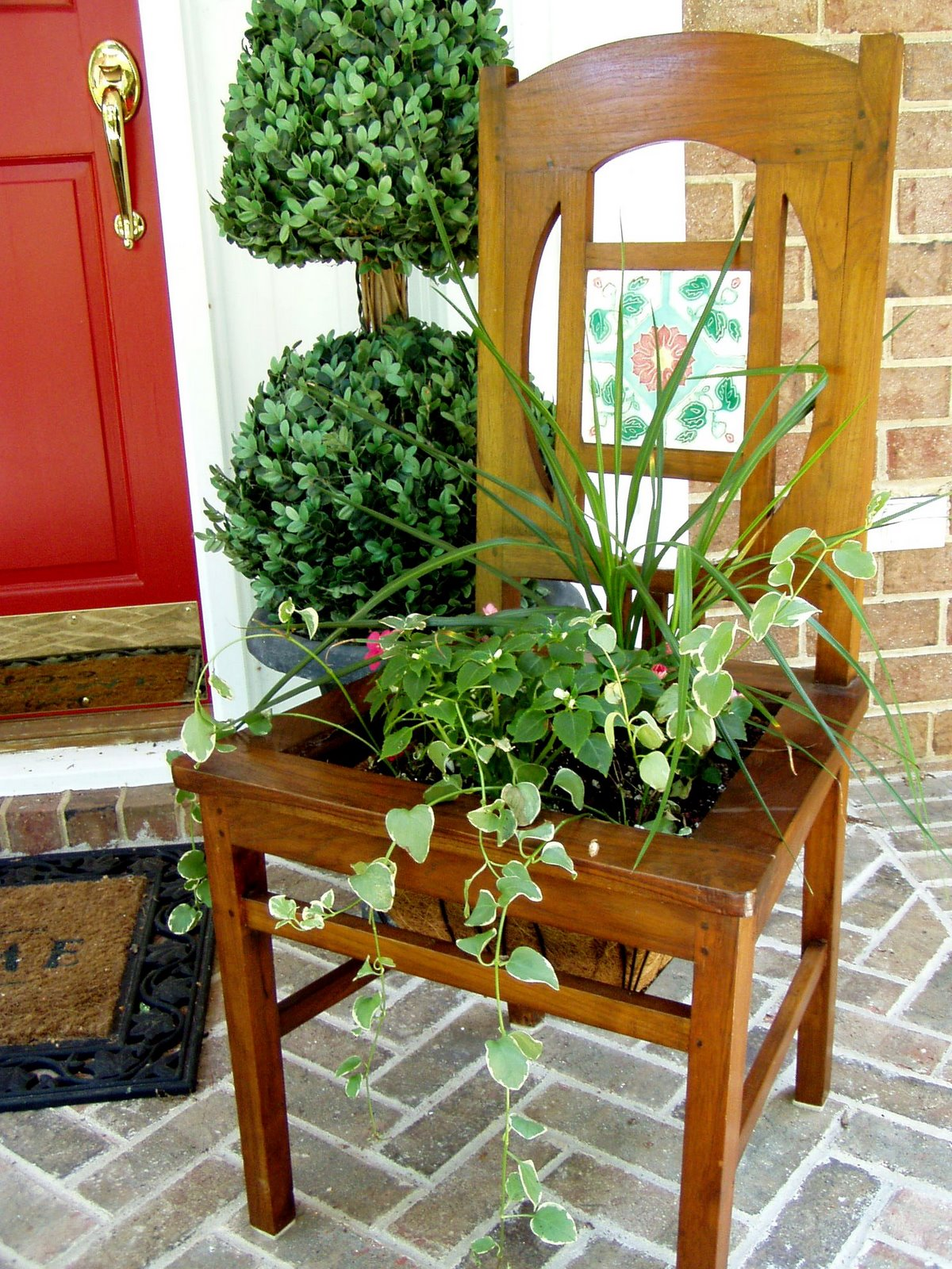 Gartengestaltung Mit Holzkisten Make A Planter From An Old Chair
