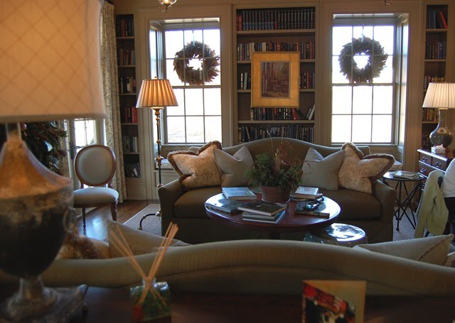 Southern Living Idea House Entertainment Room, Sewing, Craft Room - southern living living rooms