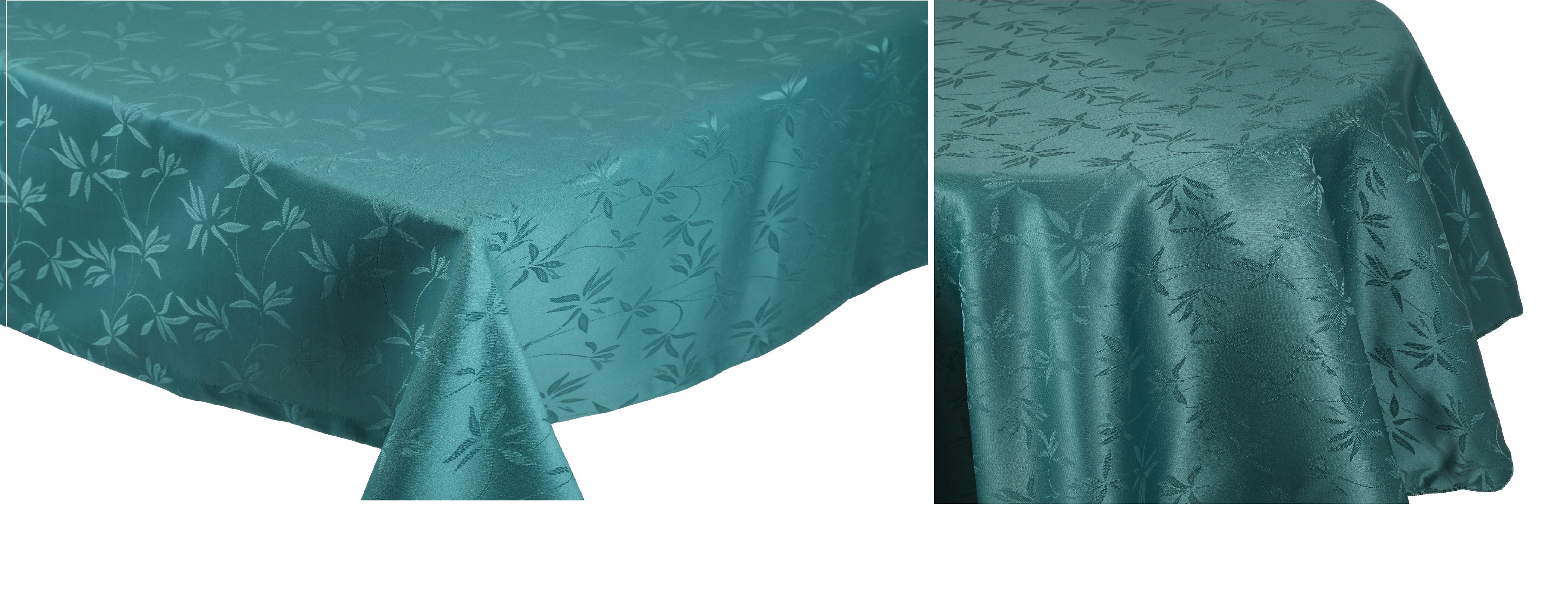Nappe De Table Ovale Betz Nappe Jacquard Linge De Table Dessin 14 Couleur Vert Ãmeraude