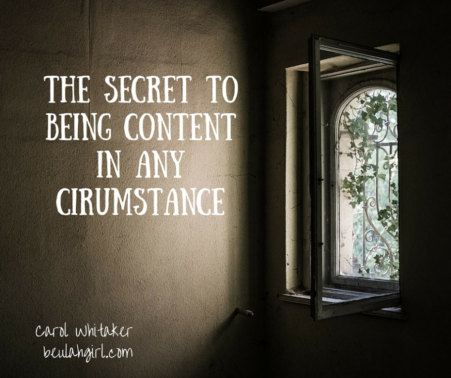 The Secret to Being Content in any Cirumstance