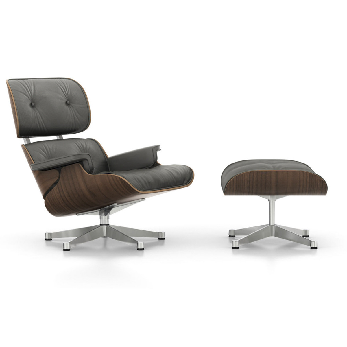 Charles Eames Lounge Chair Vitra Eames Lounge Chair And Ottoman - Black Pigmented Walnut | Beut.co.uk