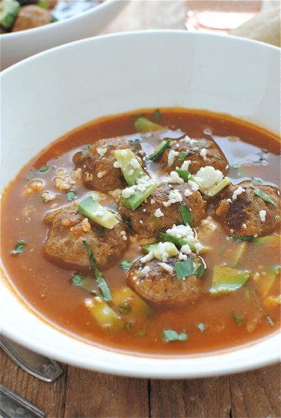 Mexican Meatball Soup | Bev Cooks