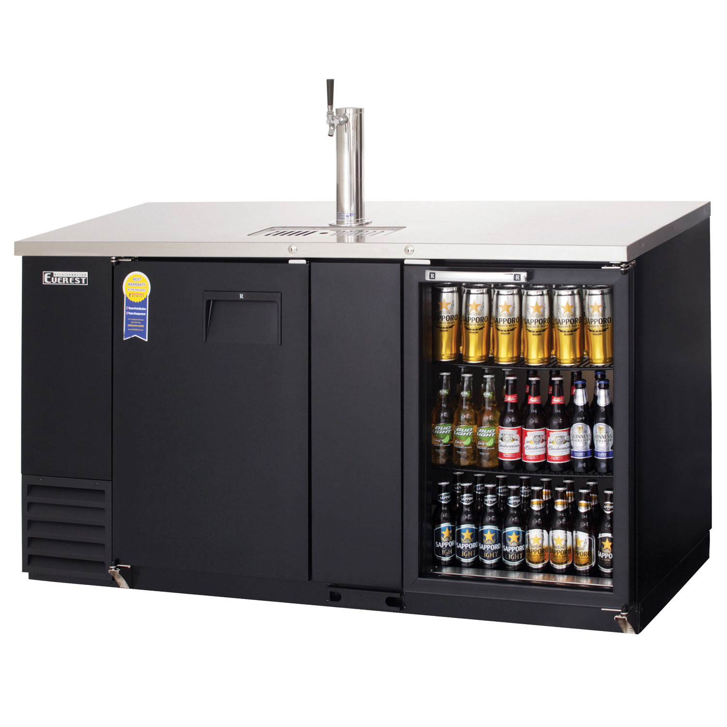 Doors Everest Everest Ebd3 Bbg Back Bar And Direct Draw Commercial Keg