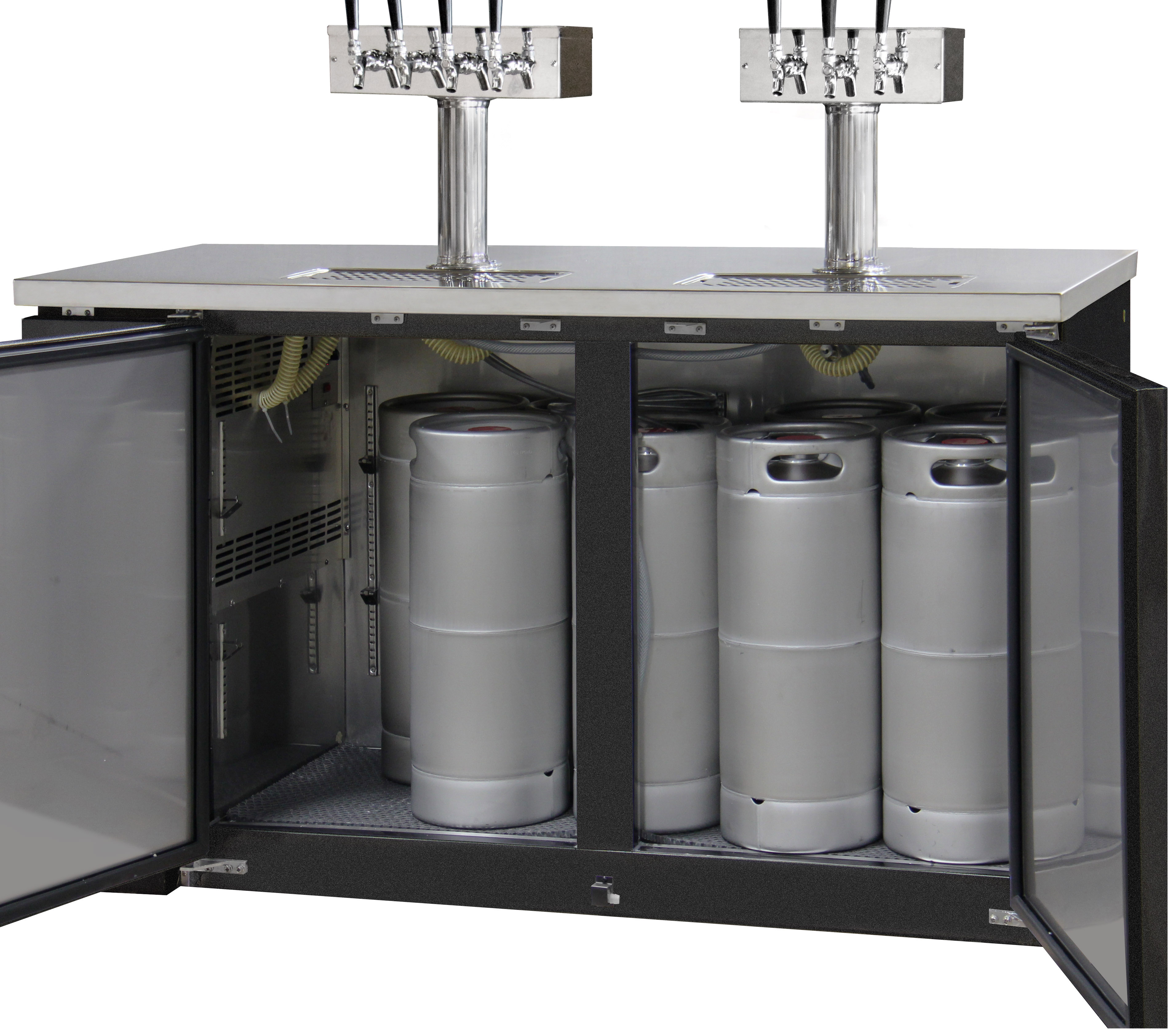 Countertop Beer Cooler And Tap Kegco Xck 2460b Commercial Kegerator Three Keg Restaurant