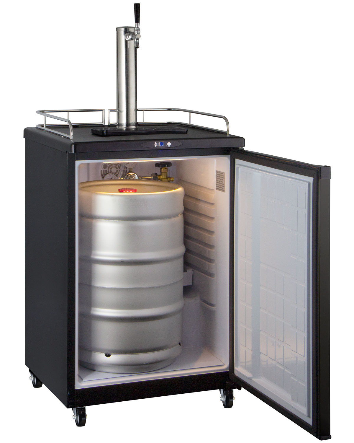 Countertop Beer Cooler And Tap Kegco Z163b 1nk Single Tap Digital Draft Beer Kegerator