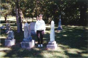 Bev in Spangler Cemetery - 1 Genealogy to Historical Fiction