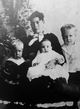 Ellen Scott and three of the children. From Genealogy to Historical Fiction