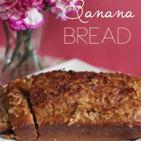 Banana Bread with Coconut Brown Sugar Topping