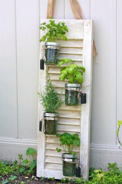 mason jar + window garden