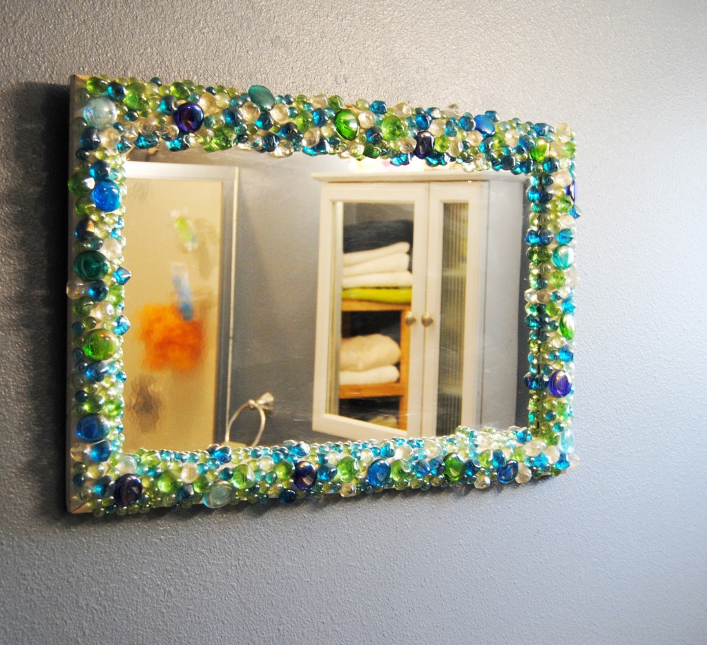 Mirror Decoration Diy Flat Glass Stones Decorated Mirror Bexbernard