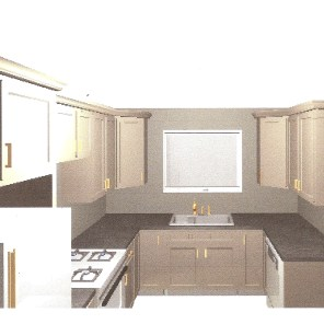 l-shaped kitchen layout with sink that is perpendicular to dishwasher. window above sink. plan a kitchen remodel  bexbernard.com