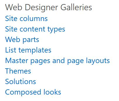 Can\u0027t see all options under Web Design Galleries in SharePoint