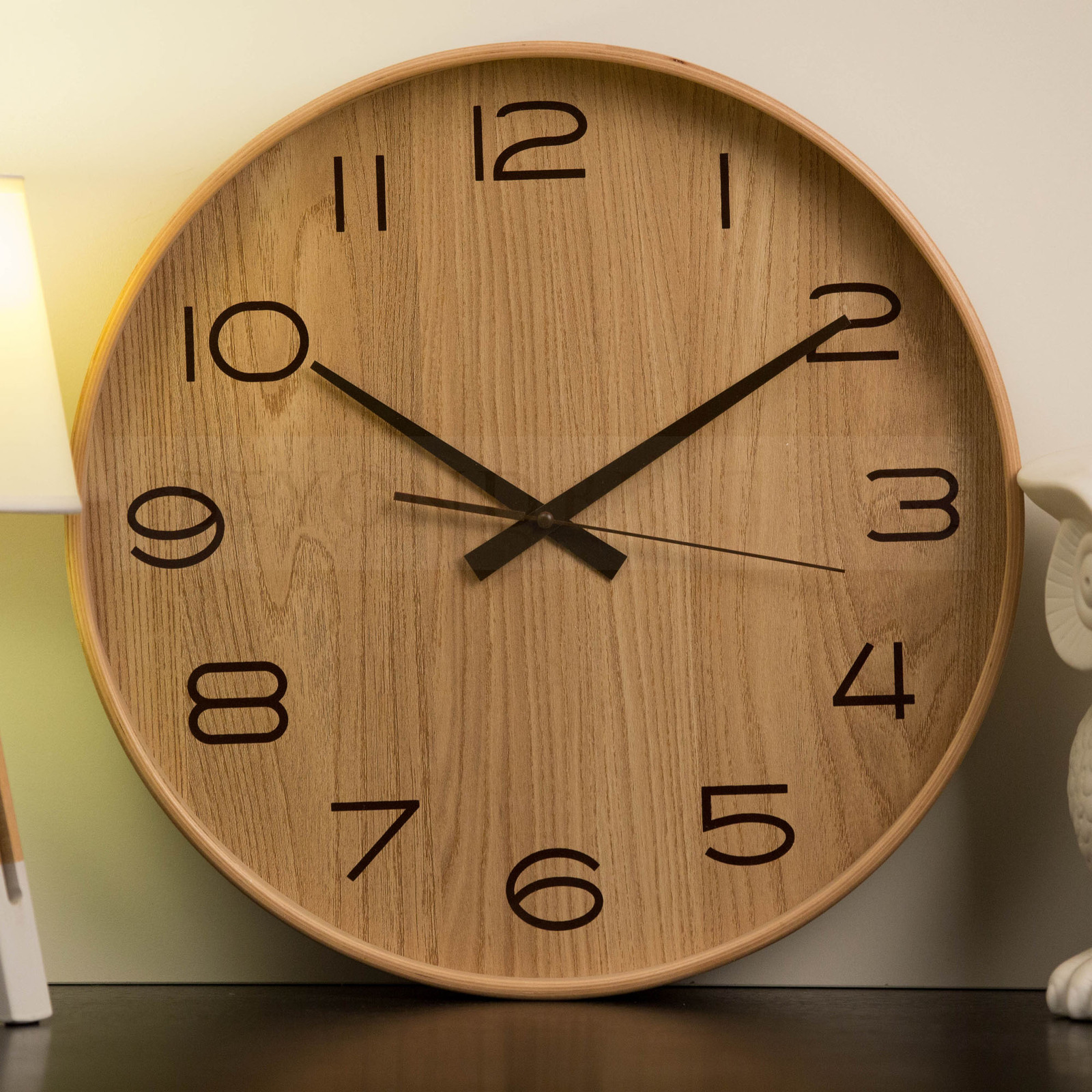 Statement Wall Clocks Urban 40cm Wall Clock Natural Style Timber