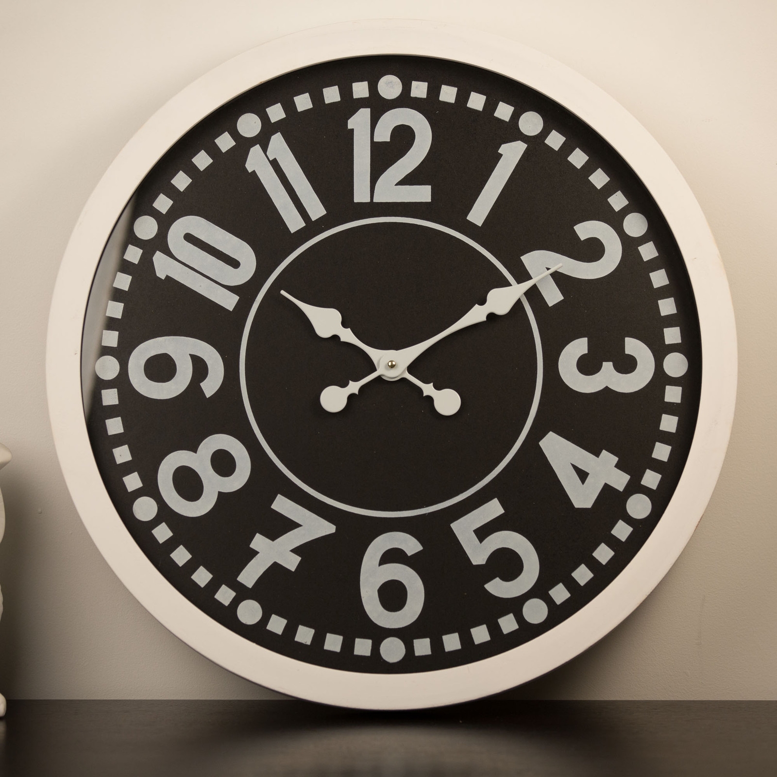 Classical Wall Clocks 60cm Classic Wall Clock White On Black