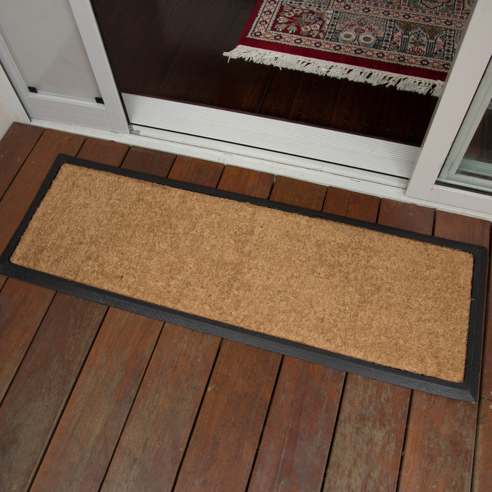Large Door Mats Outdoor Doormat 40x120cm Plain Long Coir Heavy Duty Door Mat