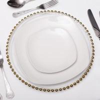 "Dinner Plates 10"" Plain White Square - Beyond Expectations ..."