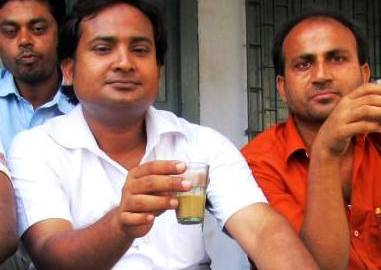 Asif Iqbal with his champaran's friends.