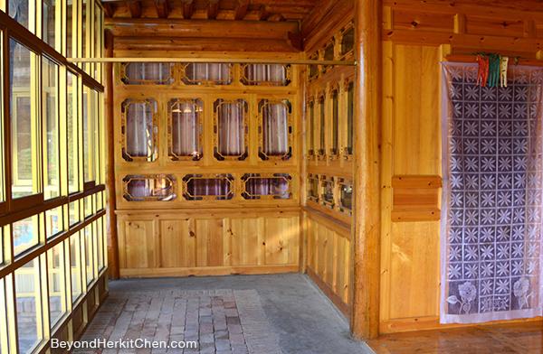 Tibetan farmer house, Tibetan house, wooden house