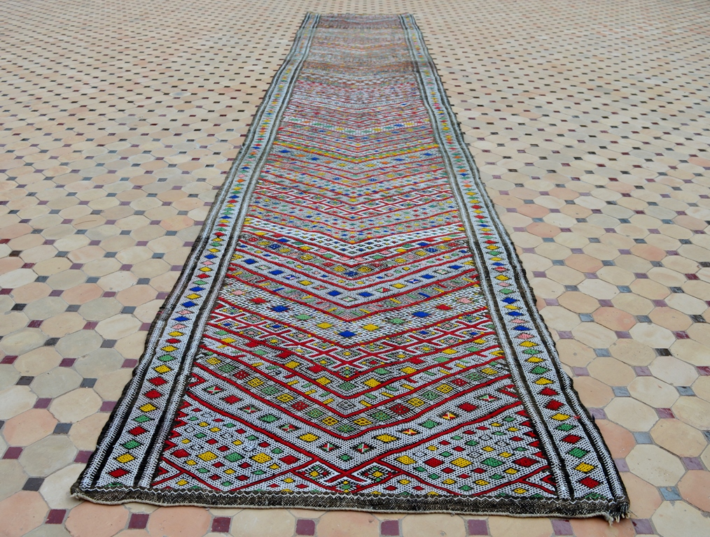 Berber Teppich Material A Sublime Vintage Azrou Kilim Originally Used As Tent Divider