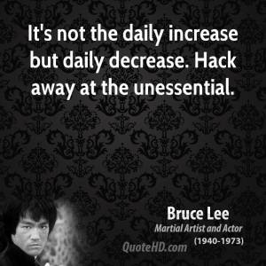 hack the unessential - bruce lee