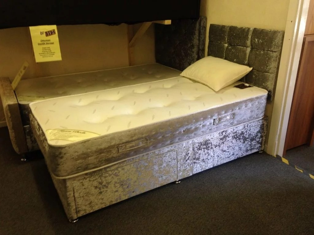 Divan Beds Cheap Diva Divan Crushed Velvet
