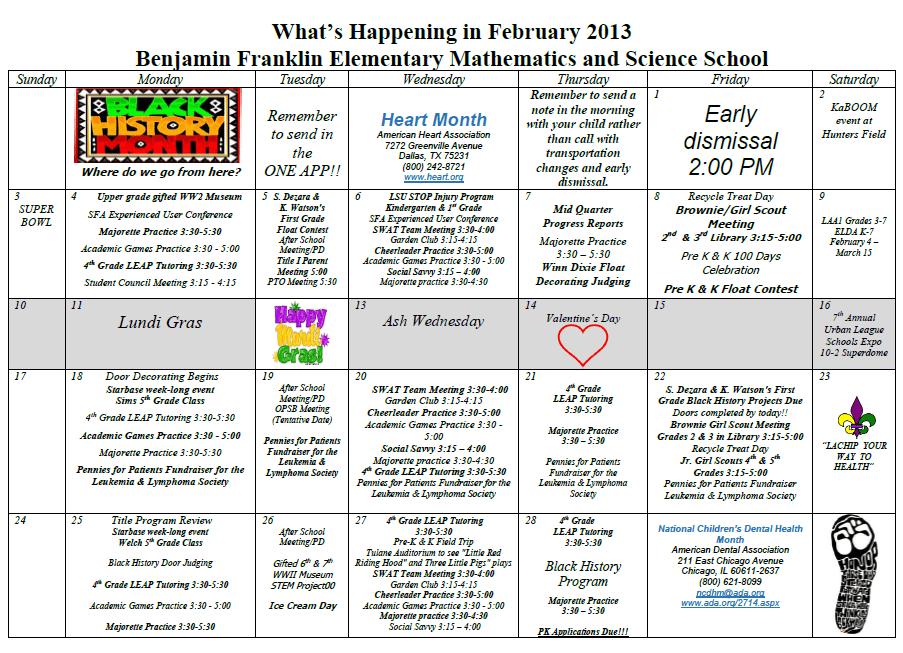Create A Calendar Of Events Free Create Printable Calendar Pdf Time And Date School Calendar Ben Franklin Elementary 5th Grade
