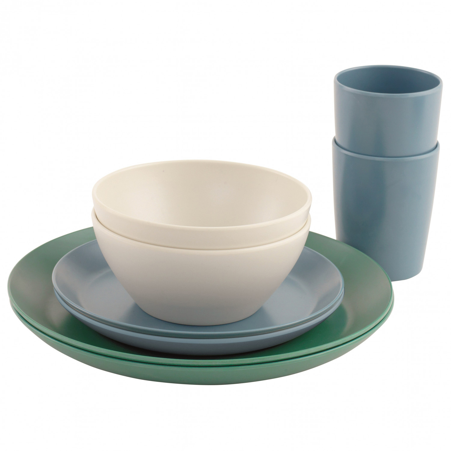 Geschirr Kaufen Outwell Daisy Dinner Set 2 Persons Geschirr Set Blue White Green