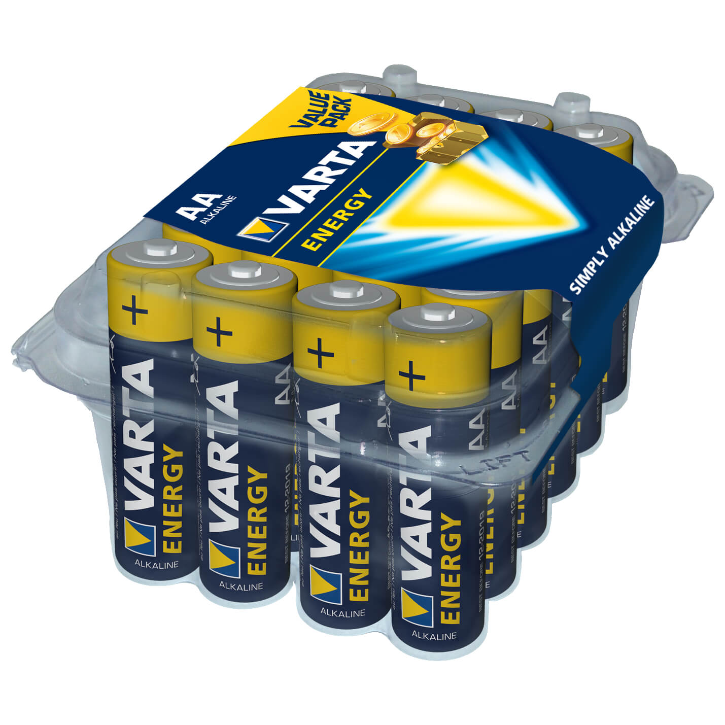 Aa Batterien Varta Aa 24er Clear Value Pack Batterien Yellow Black Aa