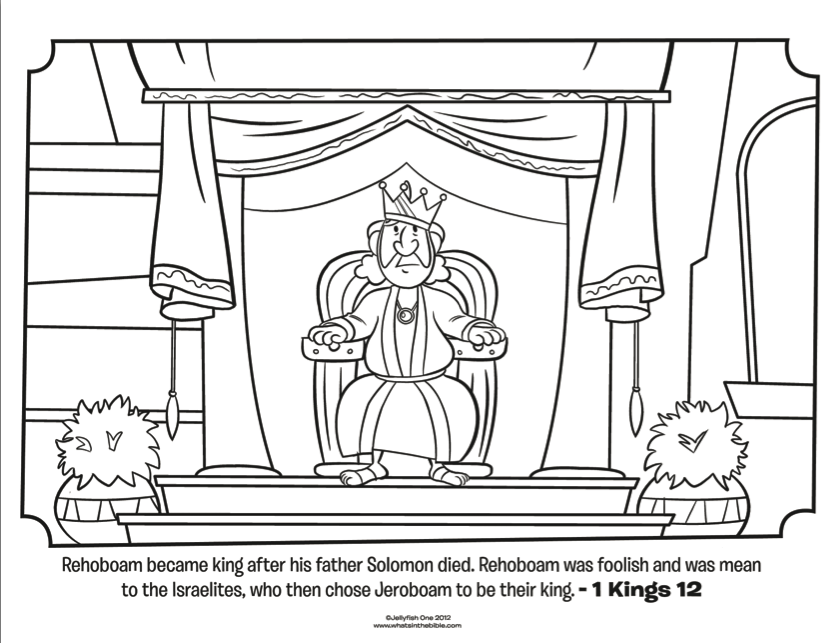 Rehoboam Bible Coloring Pages What39s In The Bible