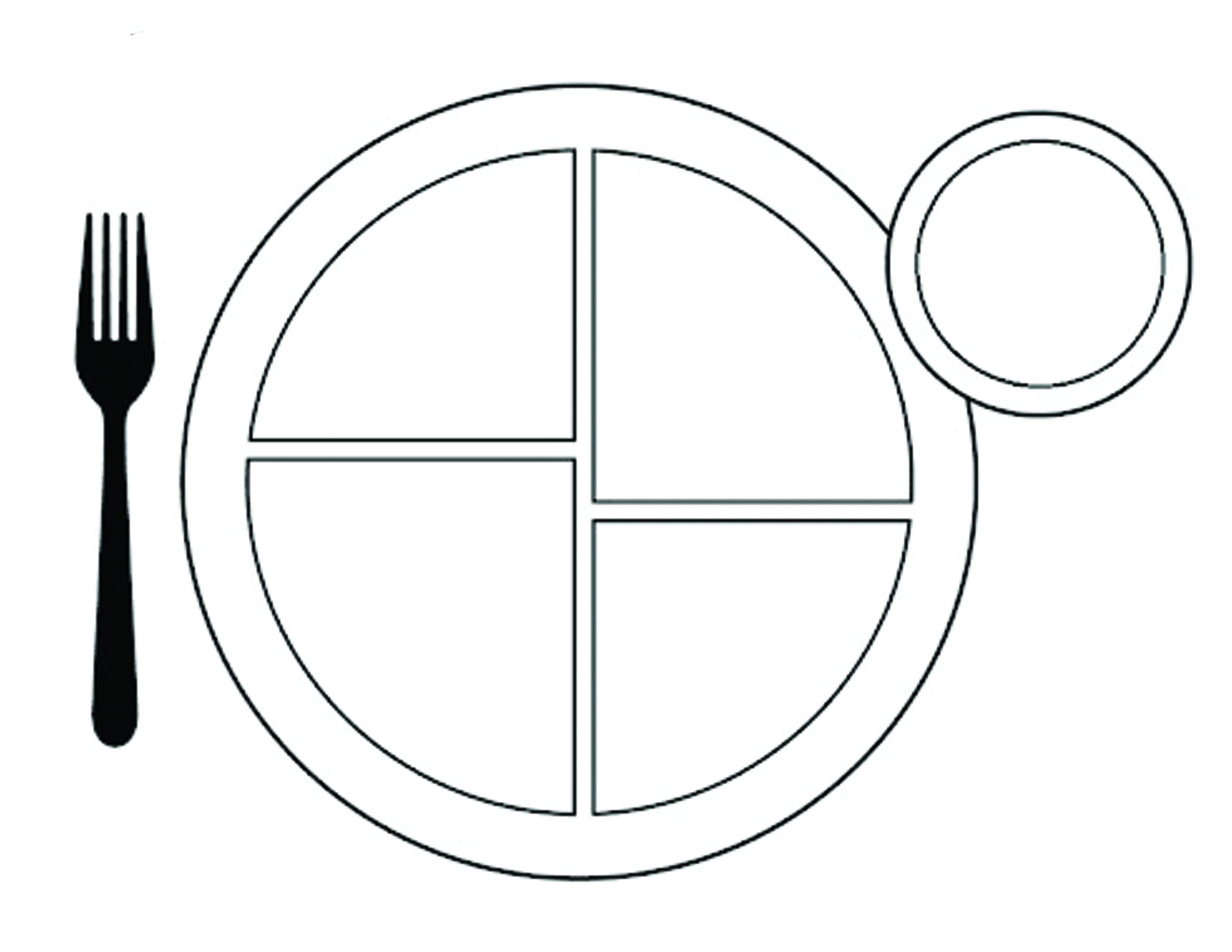 Eating Plate Coloring Pages