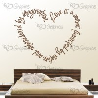 Love is a Canvas Heart Wall Art Quote  BGraphics