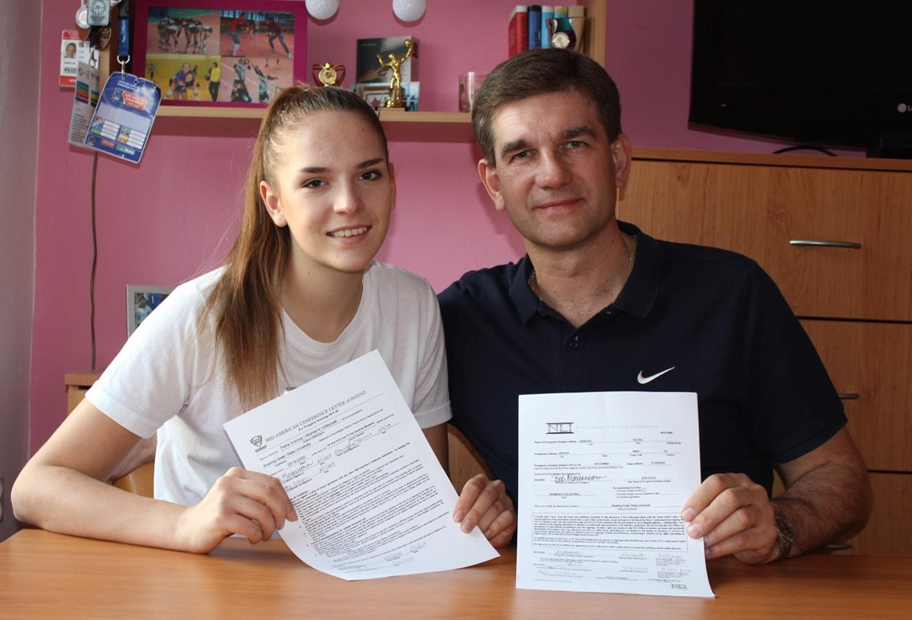 Falcon Volleyball Signs Petra Indrova To National Letter Of Intent