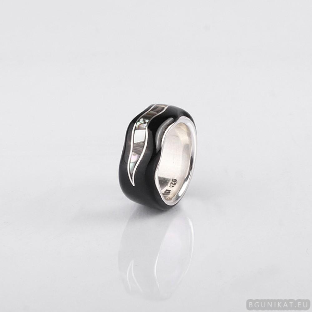 silver gold wedding ring tag wedding 20band amber wedding ring Wedding ring with sterling silver mother of pearl amber and gold inlay