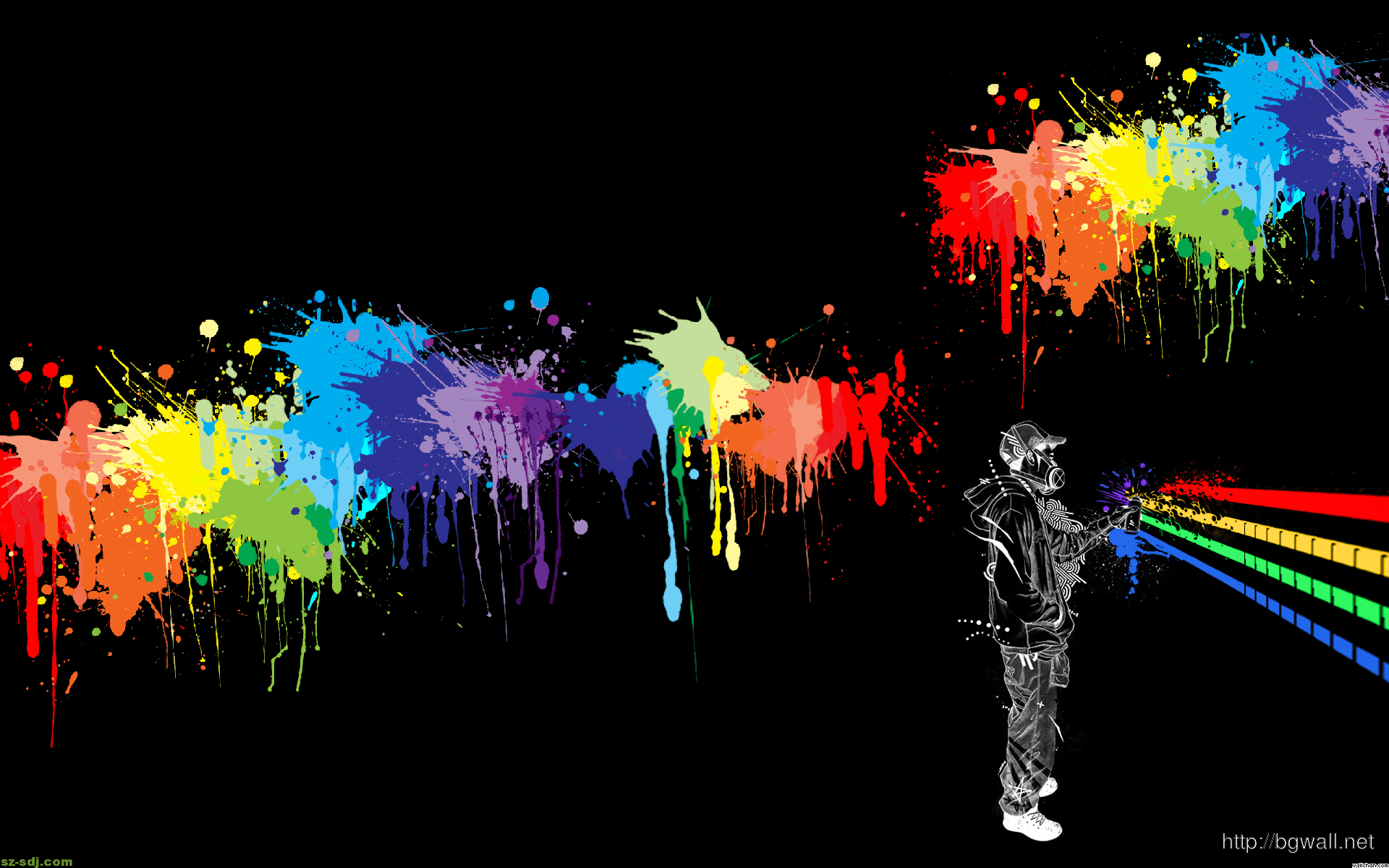 Wallpaper Of Cute Couple With Quotes Abstract Colorfull Spray Paint Wallpaper Background