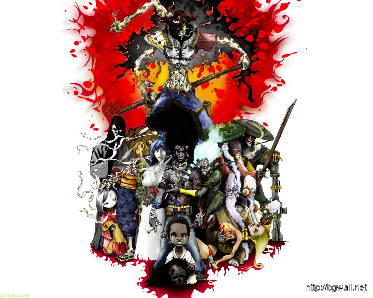 Anonymous Mask Wallpaper 3d Afro Samurai Character Anime Wallpaper Background