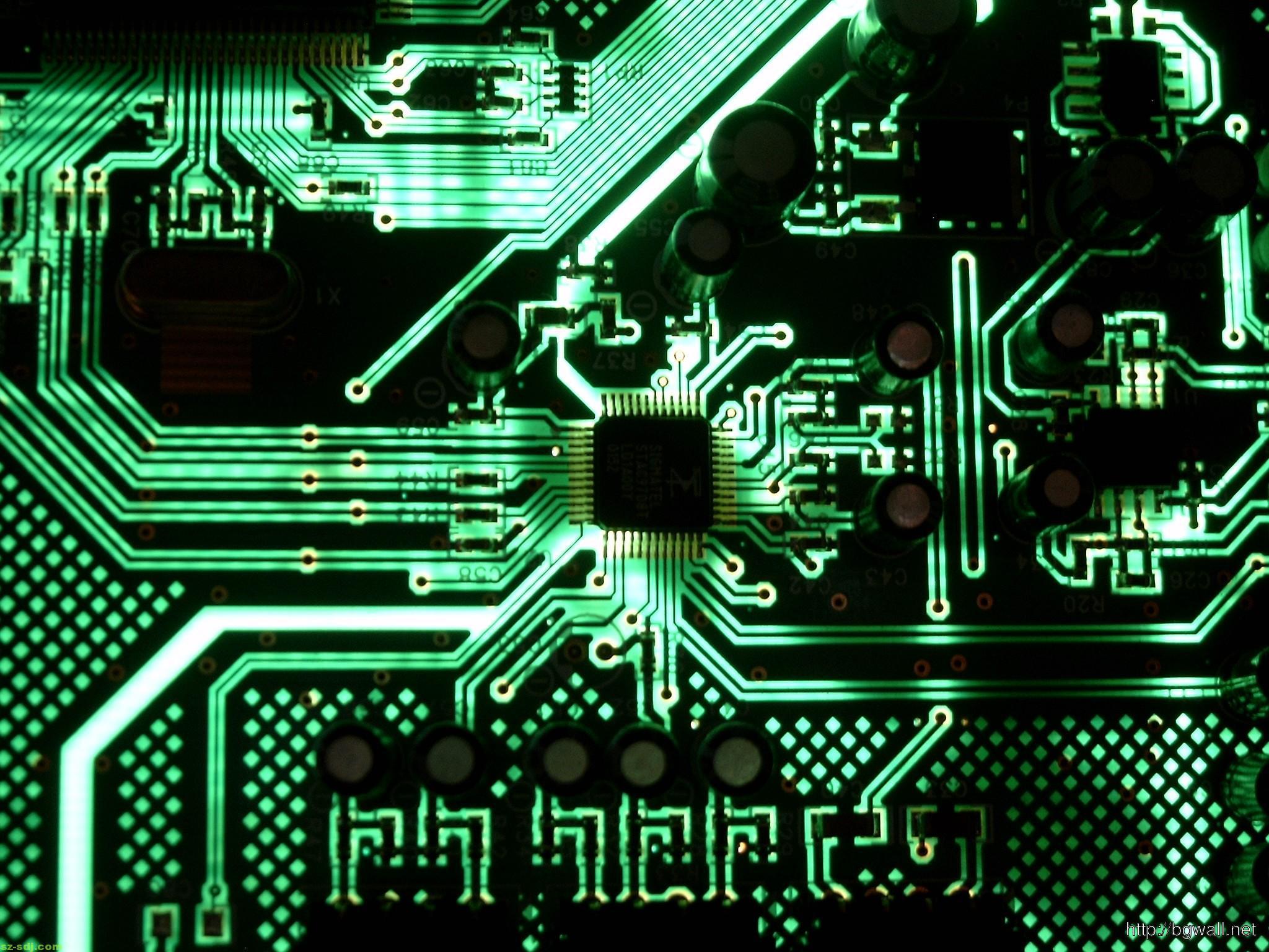 Hd Motorcycle Wallpaper Widescreen Green Motherboard Circuit Wallpaper Image Hd Background