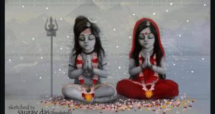 Child Shiv and parvati