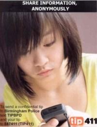 BPD text campaign poster