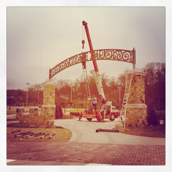 Avondale Park sign goes up