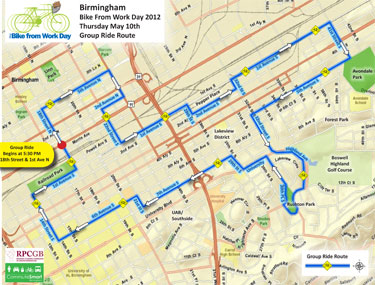 Bike From Work 2012 Route