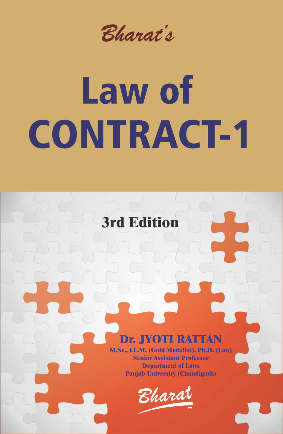 Rattan Jyoti Buy Law Of Contract 1 By Dr Jyoti Rattan Bharat Law House Pvt
