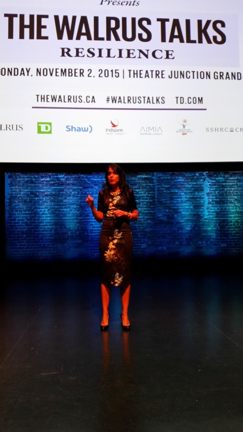 """TD Presents The Walrus Talks Resilience, November 2nd, 2015: In her talk """"The Power to Ask and Share"""" Ritu addressed how to have difficult conversations about differences – Calgary, AB"""